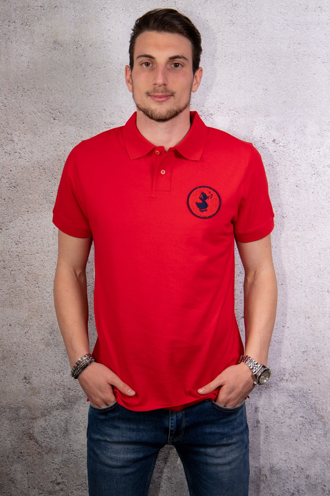 POLO SAVE THE DUCK ROSSO