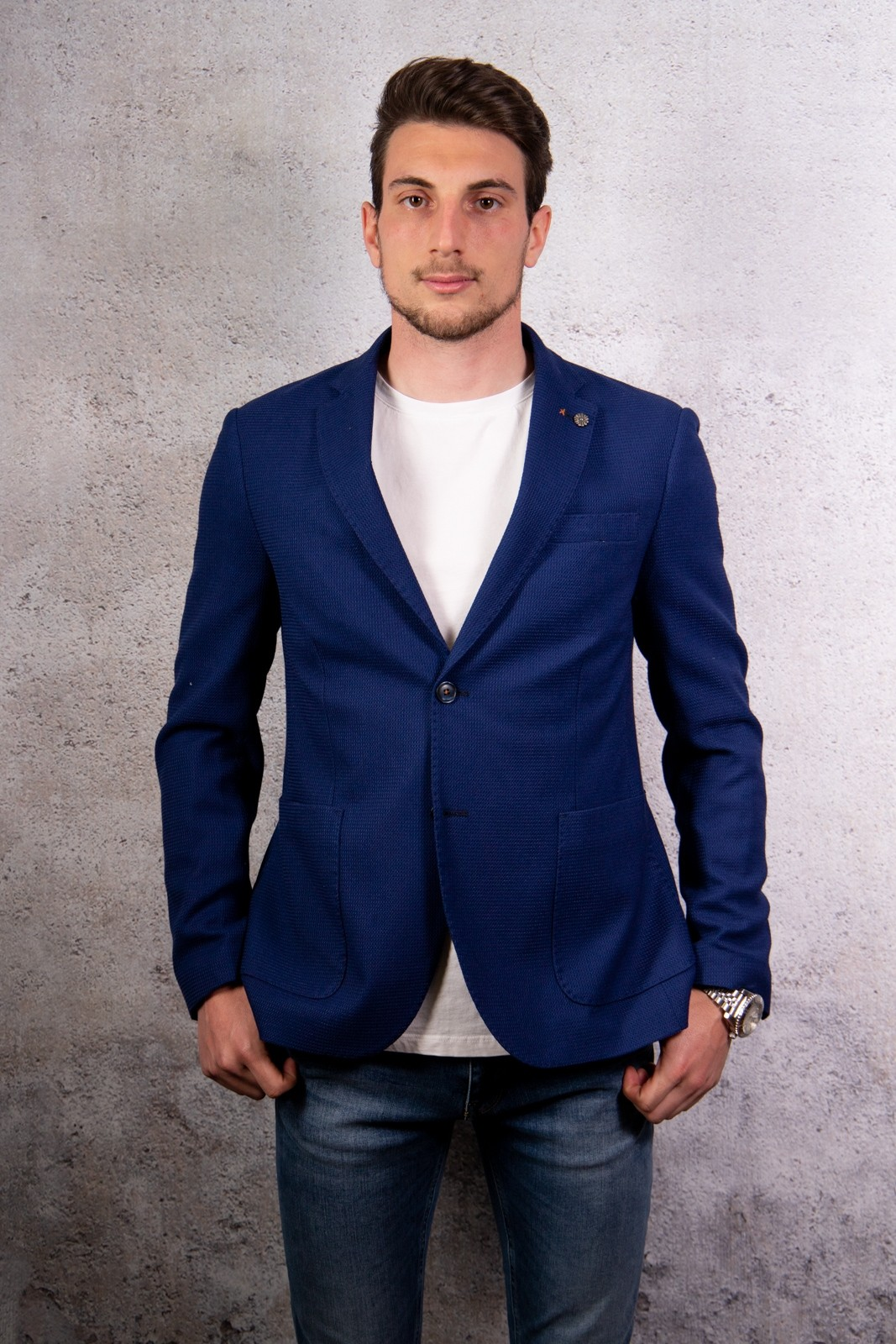 GIACCA MICRO ALESSANDRO GILLES BLU