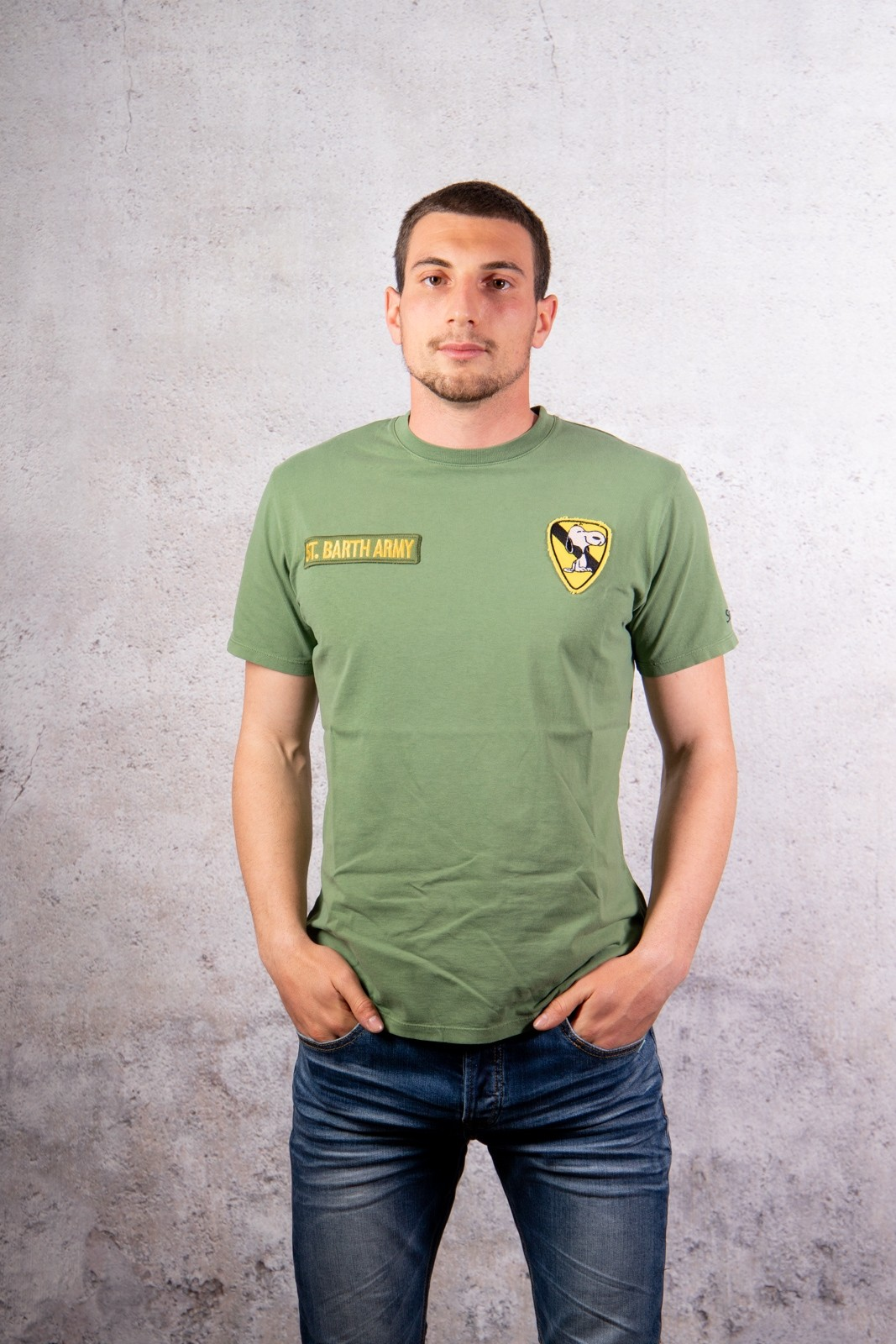 T SHIRT SNOOPY ST BARTH VERDE